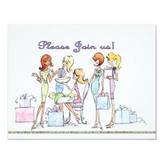 Bridal shower Party Glamour Girl Invitations