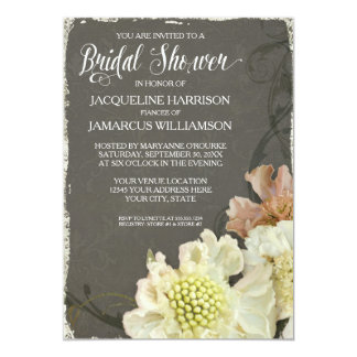 Bridal Shower Party Modern Floral Painterly Art Card