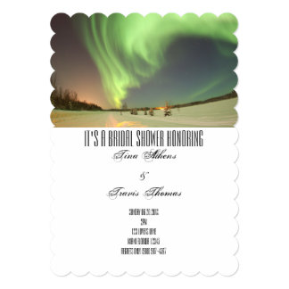 Bridal Shower Party Northern Lights Guests Card