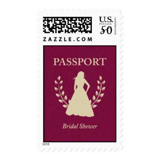 bridal shower passport postage