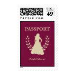 bridal shower passport stamps