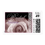 BRIDAL Shower - Pastel Purple Rose and Lace Postage