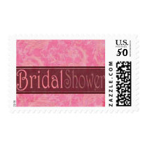 Bridal Shower pink and brown Postage