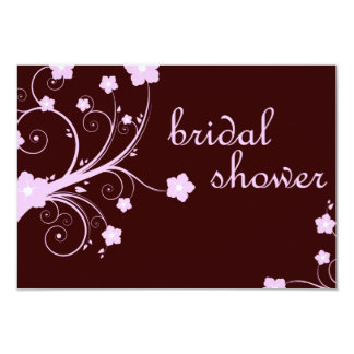 bridal shower : pink blossoms card