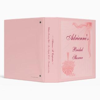 """""""Bridal Shower"""" - Pink Flower Basket Vinyl Binder"""