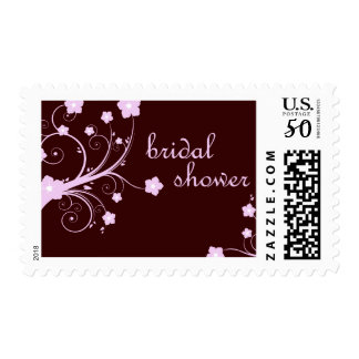 bridal shower : Pink Flowers : Postage