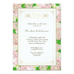 Bridal Shower Pink Hydrangea Lace Floral Formal Announcements