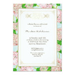 Bridal Shower Pink Hydrangea Lace Floral Formal 5x7 Paper Invitation Card