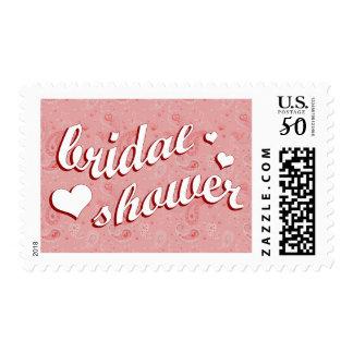 bridal shower : Pink Paisley : Postage