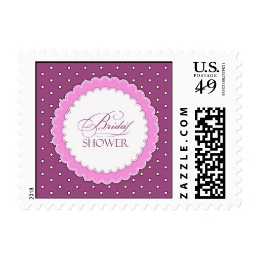 Bridal Shower Pink/Purple Small Postage
