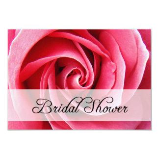 bridal shower : pink rose card