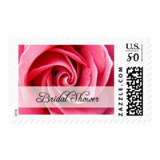 bridal shower : Pink Rose : Postage