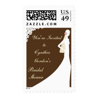 Bridal Shower Postage Stamps