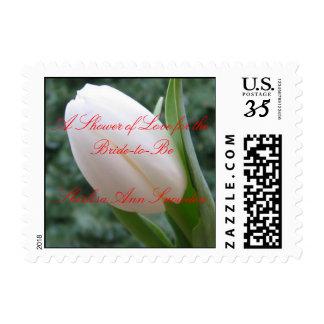 Bridal Shower Postage Stamp