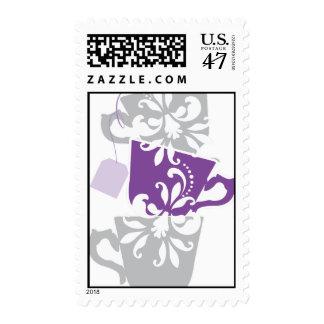 Bridal Shower Postage Stamp - Tea Cups
