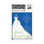 Bridal Shower Postage Stamp - Wedding Dress