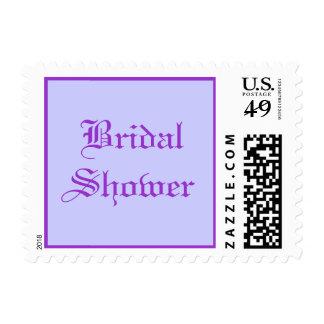 Bridal Shower - postage stamps