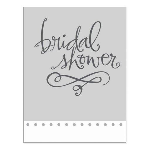 Bridal Shower Postcard