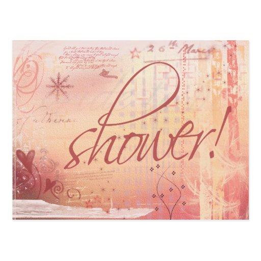 Bridal Shower Postcard Invitation