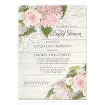 Bridal Shower Pretty Flower Vintage Lace Hydrangea 5x7 Paper Invitation Card