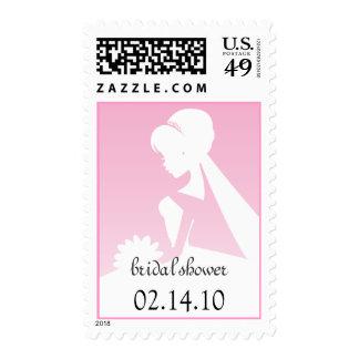Bridal Shower Pretty in Pink Wedding Postage
