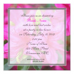 bridal shower pretty pink azalea flowers personalized announcements