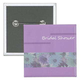 bridal shower purple floral button