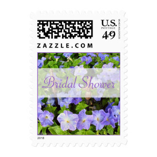 Bridal Shower purple flowers Stamps