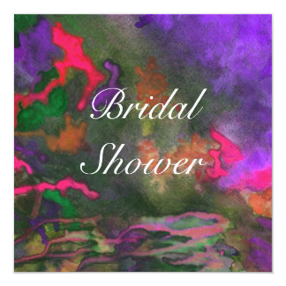 Bridal Shower Purple Fusion 2 Wedding Invitation