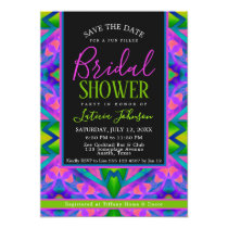 Bridal Shower • Purple Green Hippie Trance Party Card