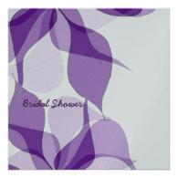 Bridal Shower Purple Passion Personalized Invitations