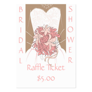 Bridal Shower Raffle Tickets Large Business Card