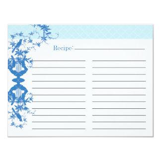 Bridal Shower Recipe Card - Blue Announcements