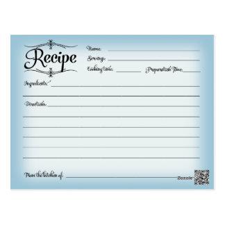 Bridal Shower Recipe Card Desserts Scrolls Retro