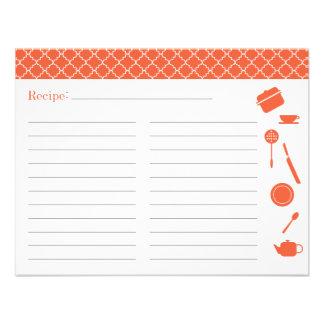 Bridal Shower Recipe Card - Orange Announcements