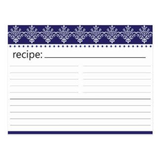 Bridal Shower Recipe Card Post Card