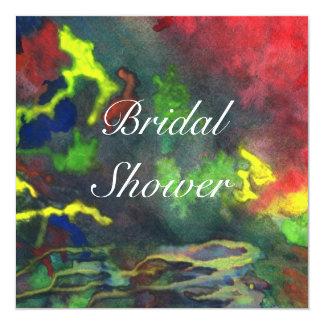 Bridal Shower Red Fusion 2 Wedding Invitation