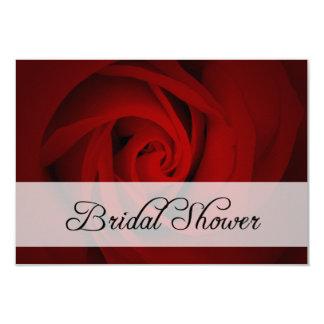 bridal shower : red rose card