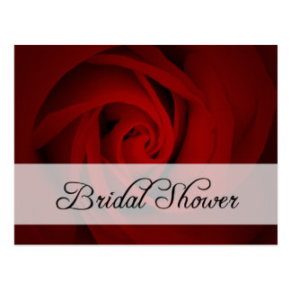 Bridal Shower : Red Rose : Post Card