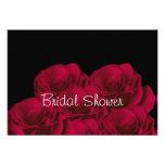 Bridal Shower Red Roses Invitation
