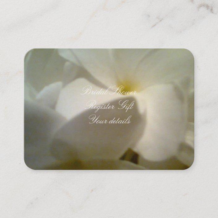 bridal shower register gift card enclosure card  zazzle