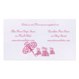 Bridal Shower Registry Card Double-Sided Standard Business Cards (Pack Of 100)