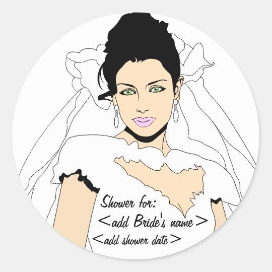 Bridal Shower Reminder Classic Round Sticker