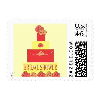 Bridal Shower Rose Wedding Cake Postage