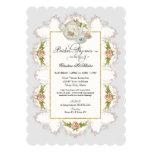 Bridal Shower Roses Tea Party Teapot n Teacups 5x7 Paper Invitation Card