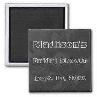 Bridal Shower - Roses w/ Name & Date Magnet