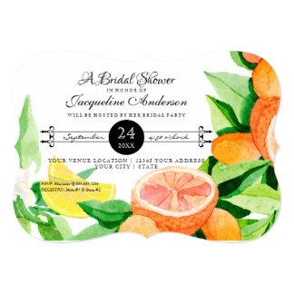 Bridal Shower Rustic Outdoor Garden Lemon Oranges Card