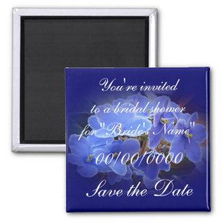 Bridal Shower Save Date Easter Blue African Violet Magnet
