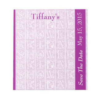 Bridal Shower Save The Date Notepads