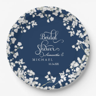 Bridal Shower Script Baby's Breath Rustic Country Paper Plate